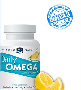 Nordic Naturals Daily Omega with Vitamin D3 30 Kapsül
